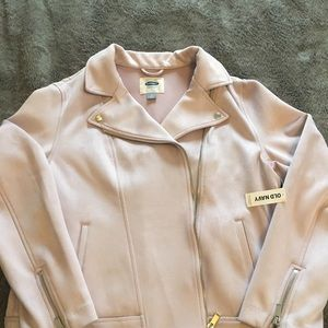 Old Navy suede moto jacket